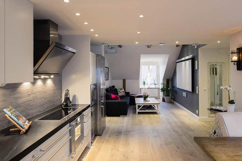 Come arredare una cucina soggiorno piccola ma di design ...